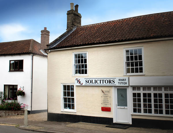 the premises of KJL Solicitors in The Street, Blofield